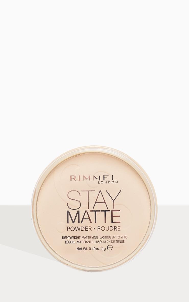 Rimmel - Poudre matifiante Stay Matte 1