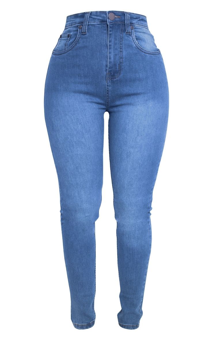 Shape Light Wash High Waist Skinny Jean 3