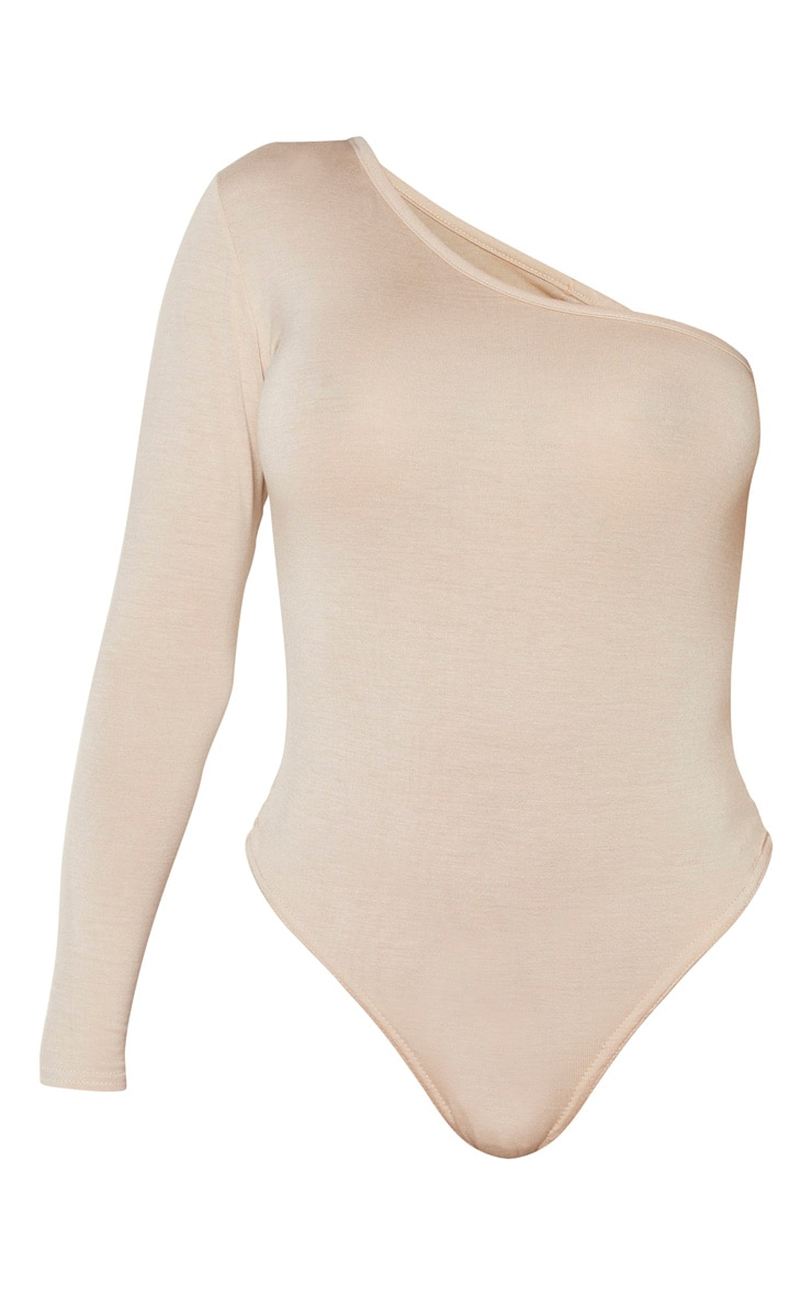 Shape Sand Jersey One Shoulder Bodysuit 4