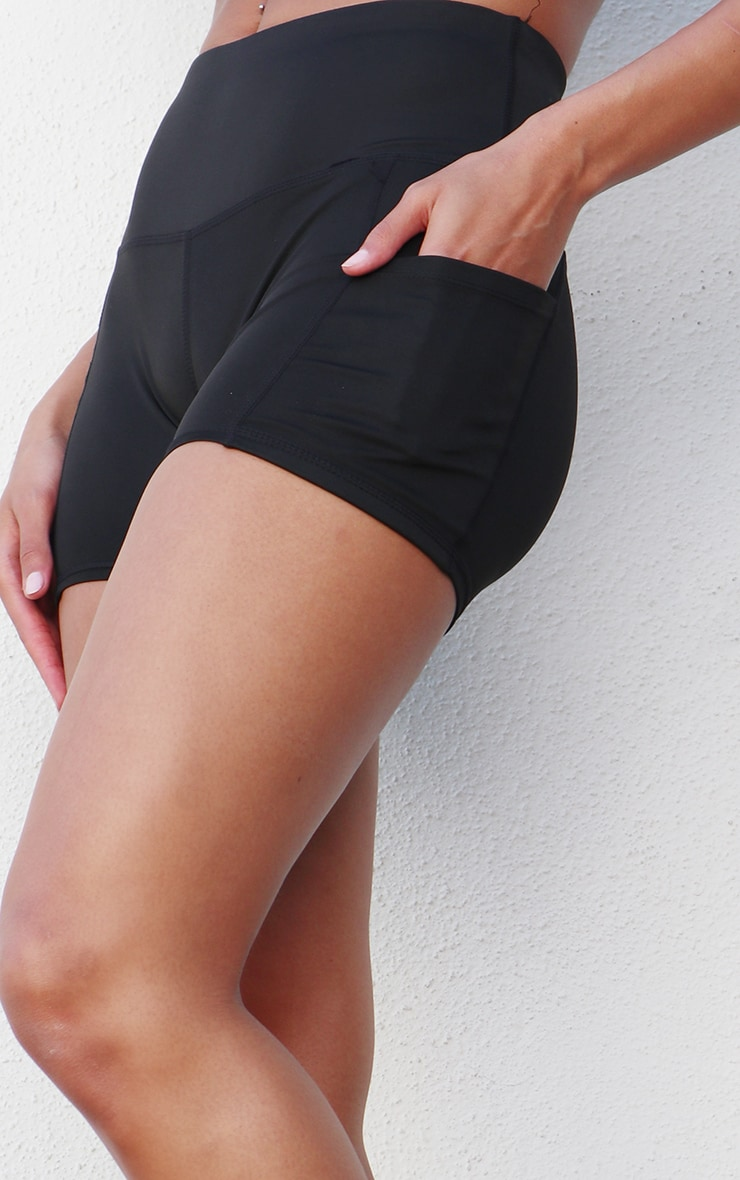 Black Side Pocket Bike Shorts 5