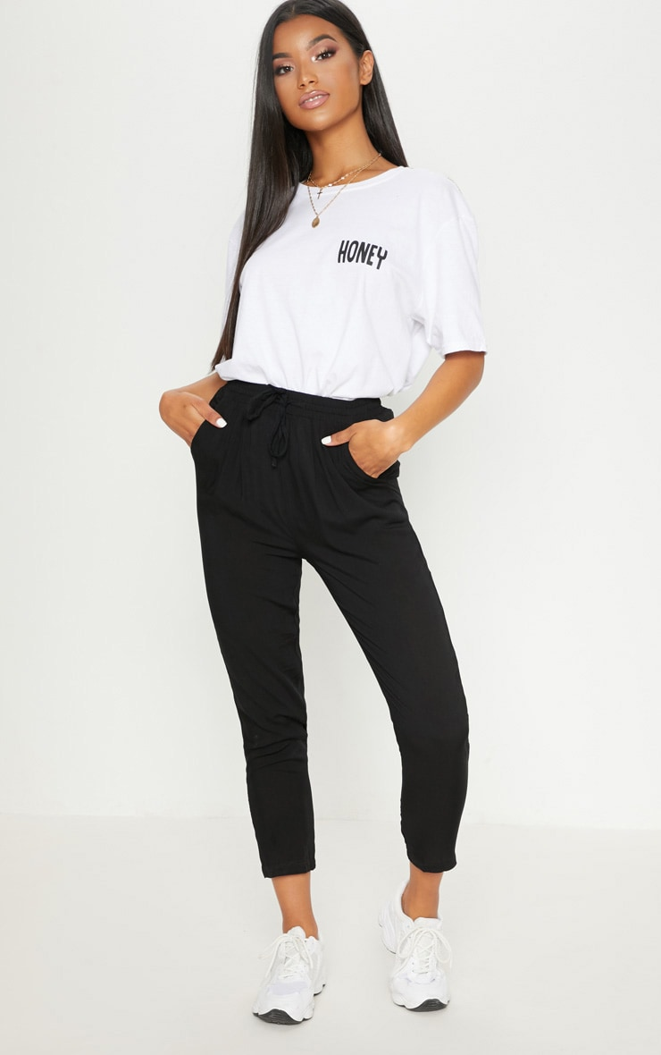 Diya Black Casual Trouser 1