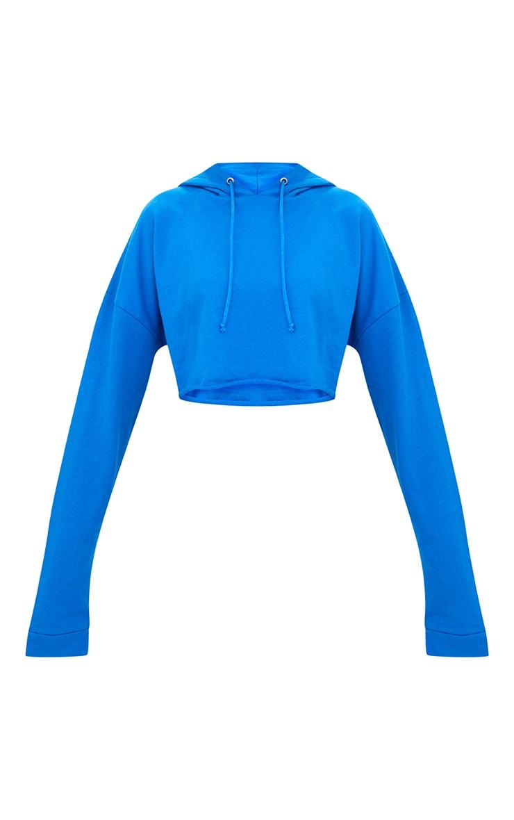 Petite Blue Cropped Hoodie  3