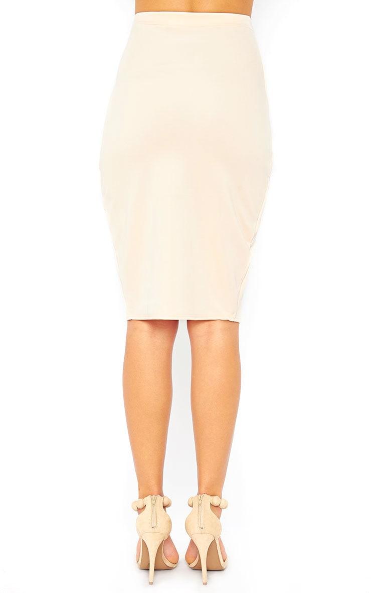 Melrose Nude Scuba Midi Skirt 4
