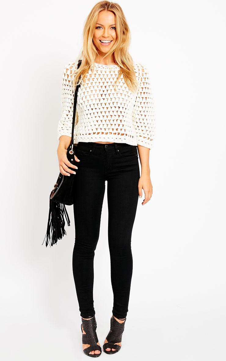 Lavinia Cream Cropped Knit Jumper  3