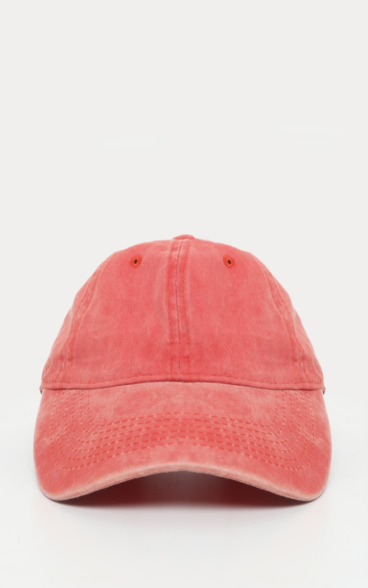 Red Distressed Fabric Cap   2