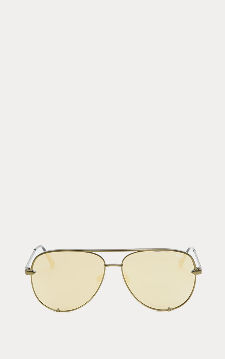 QUAY AUSTRALIA Gold The Playa Aviator Sunglasses 2