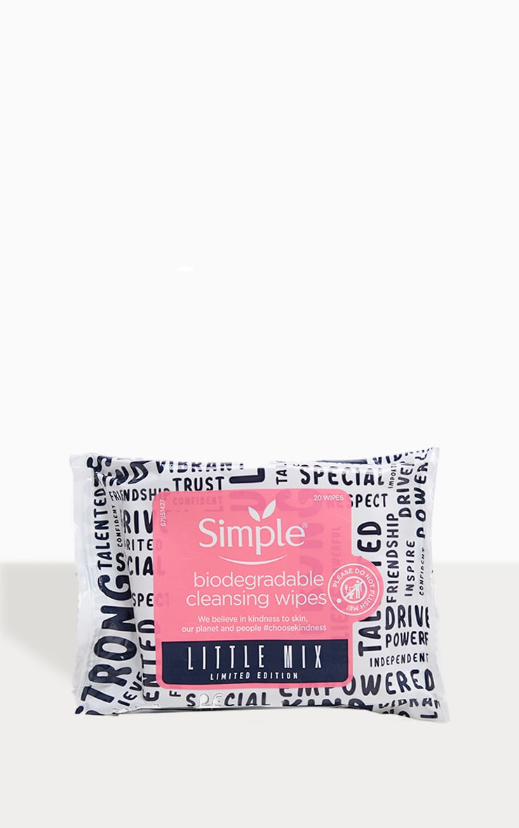 Simple X Little Mix Cleansing Wipes 1