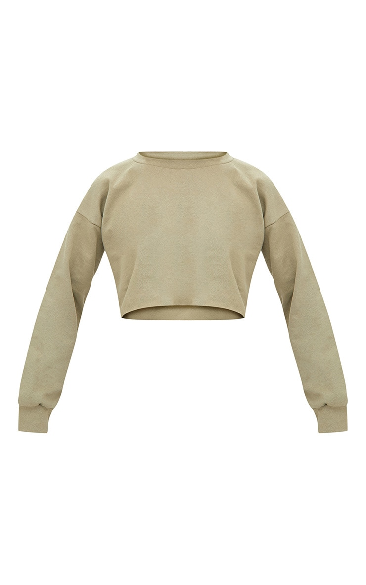 Petite Sage Green Cropped Sweater 3