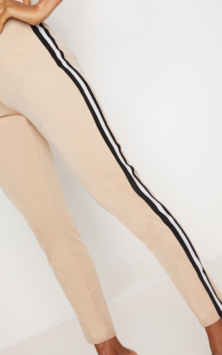 Stone Side Stripe Tape Skinny Trouser 5