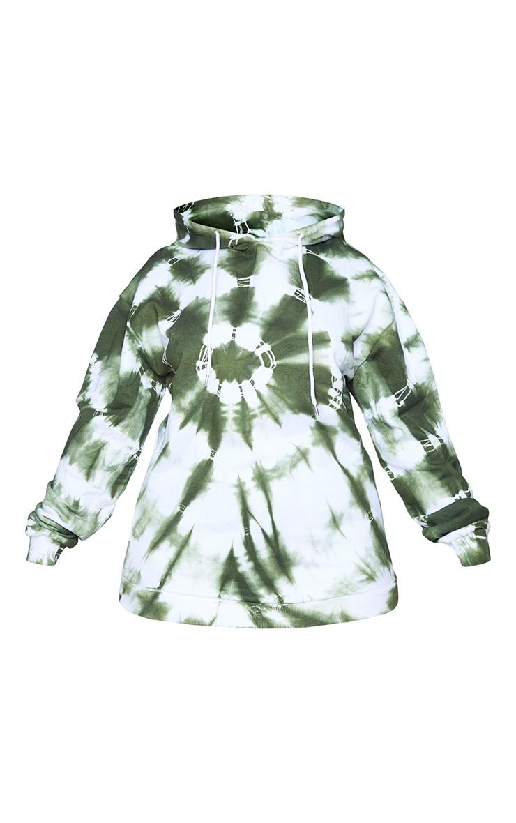 Plus Khaki Tie Dye Hoodie 5