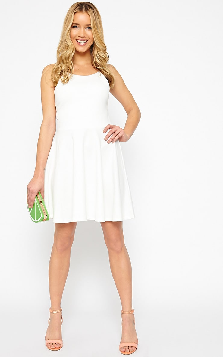 London Cream Skater Dress 3