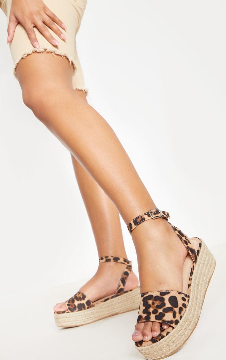 Leopard Espadrille Flatform Sandal 1