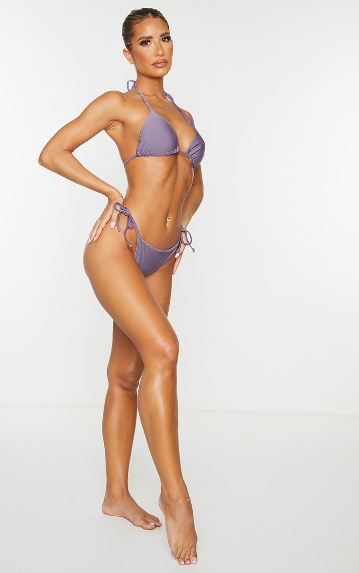 Aubergine Mix & Match Tie Side Bikini Bottoms 3