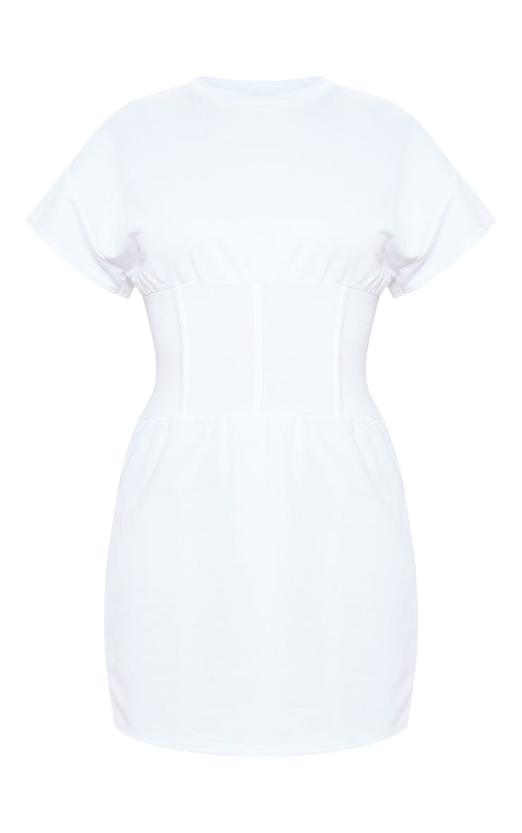White Corset Sweater Dress 3
