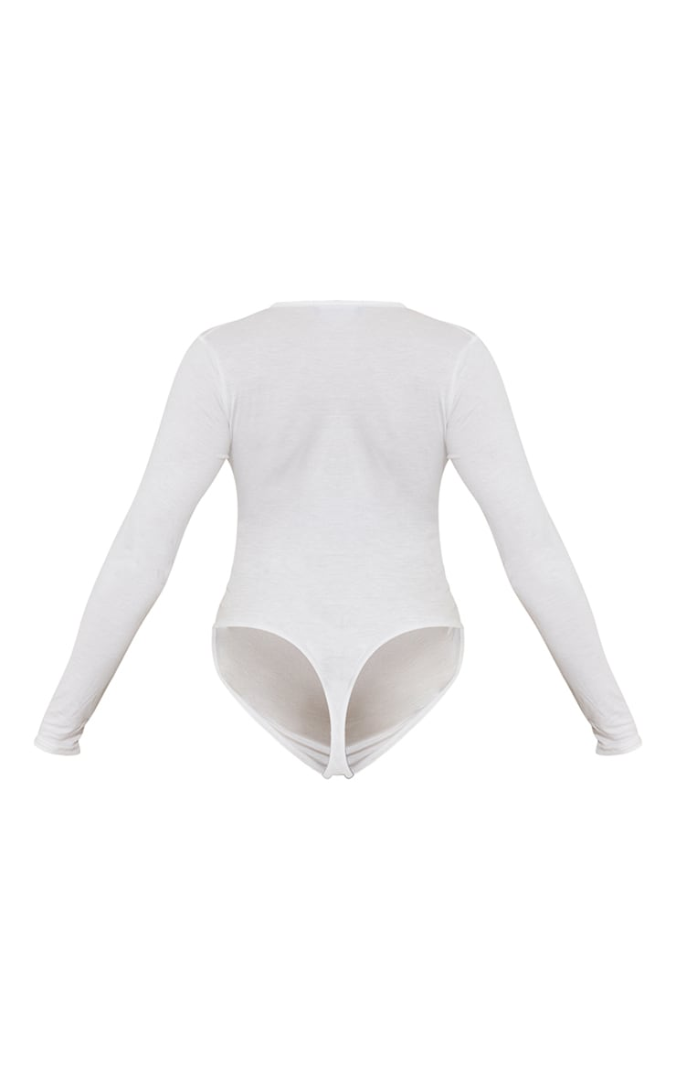 Maternity Cream Ruched Bump Bodysuit 6