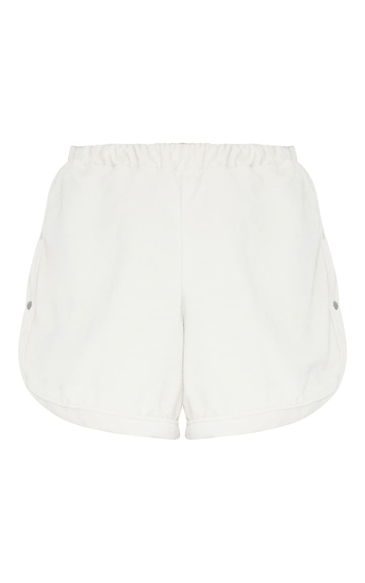 Sand Towelling Popper Detail Floaty Shorts 6