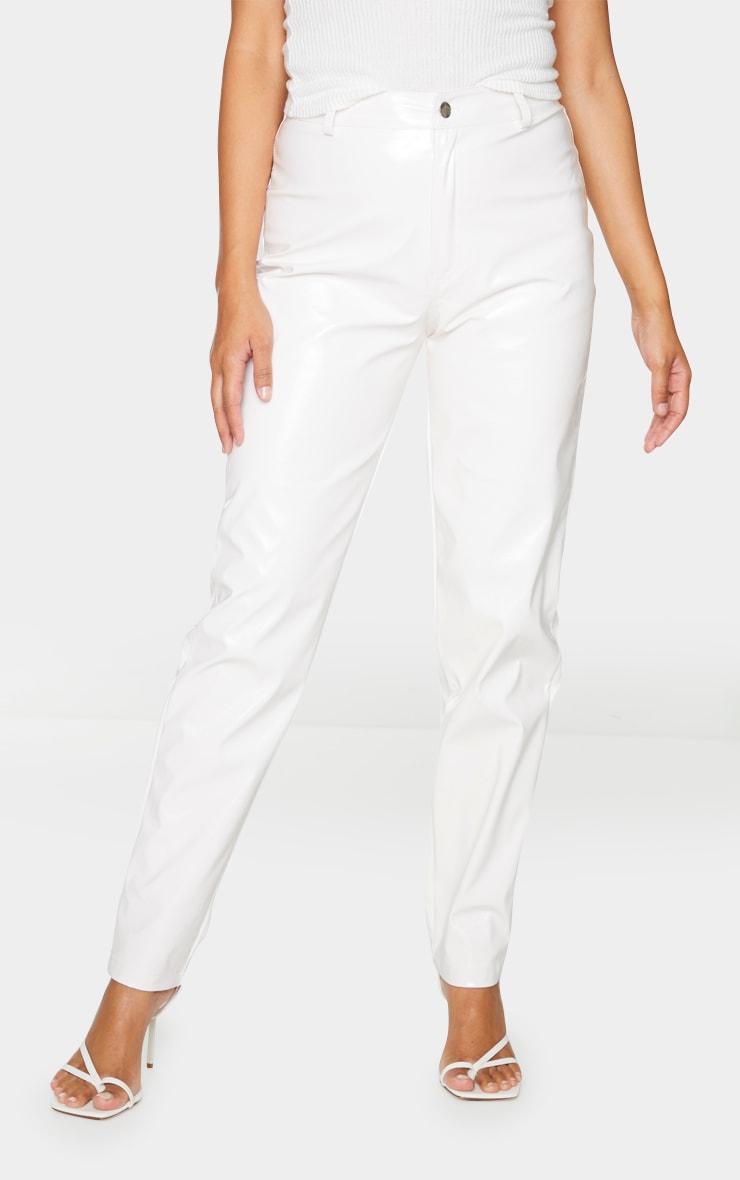 White Skinny Vinyl Pants 2