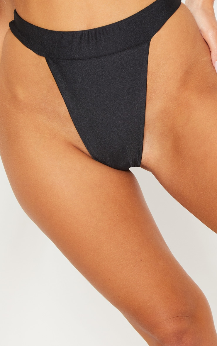 Black Mix & Match High Leg Bikini Bottom 7