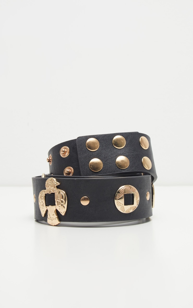 Black Gold Charm Waist Belt 3