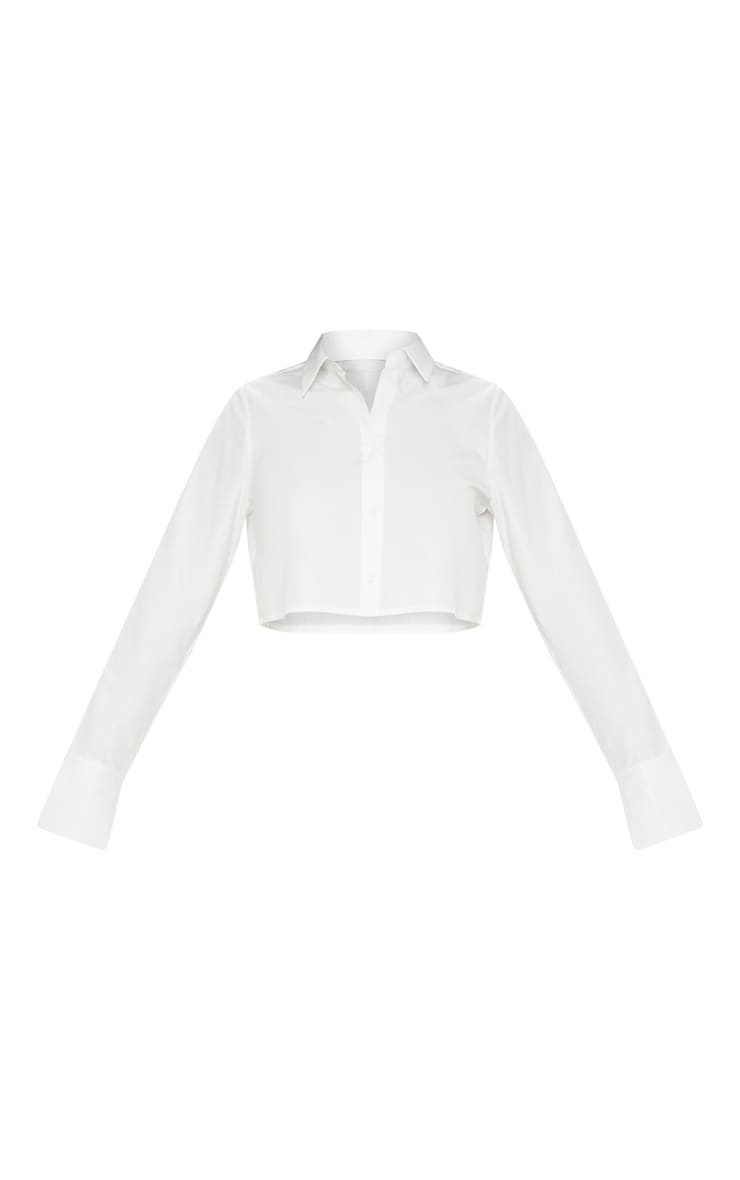 White Crop Shirt 3