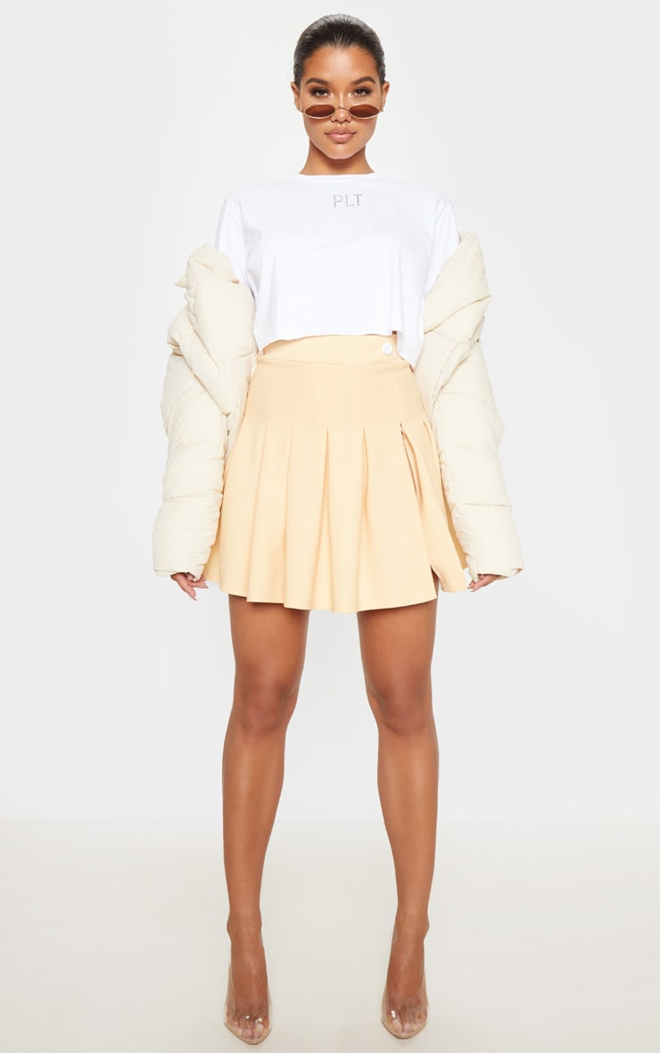 Fawn Pleated Side Split Tennis Skirt 5