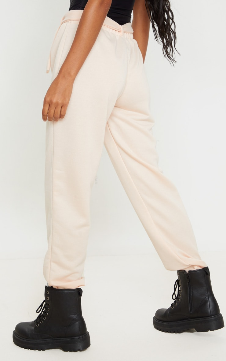 Pink Buckle Belted Casual Joggers 4