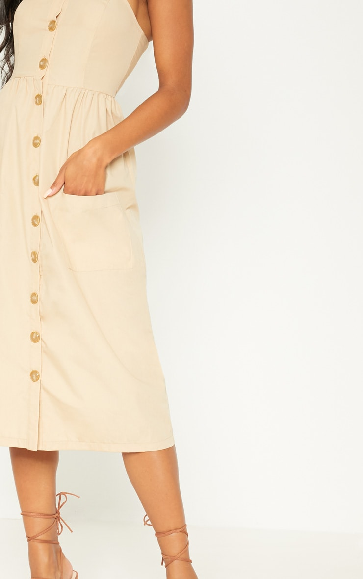 Stone Button Down Midi Dress 5