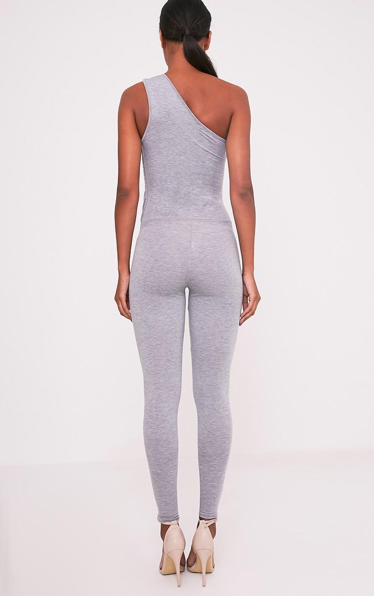 Jess Grey One Shoulder Jersey Jumpsuit 2