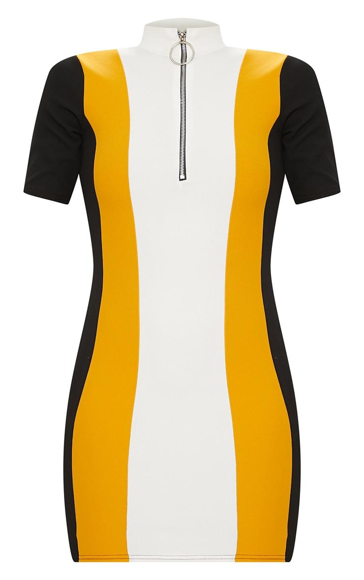 Yellow Motocross Ring Pull Dress 3