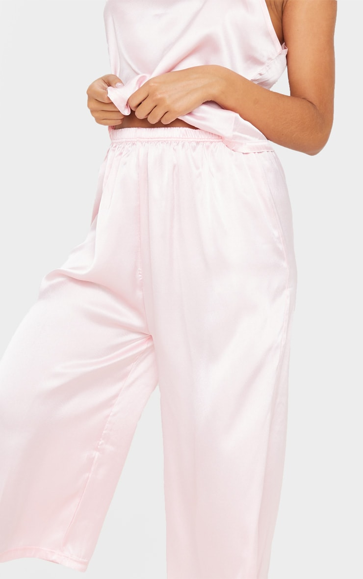 Light Pink Culotte And Cami PJ Set 5