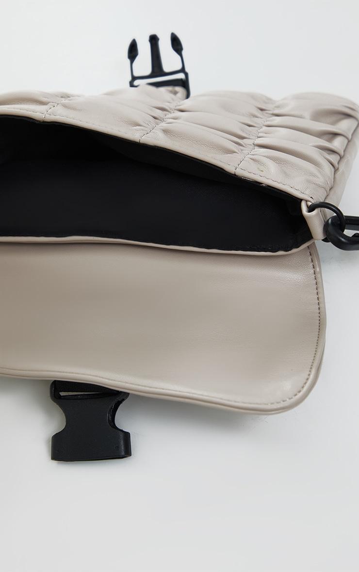 Stone Ruched PU Cross Body Bag 4