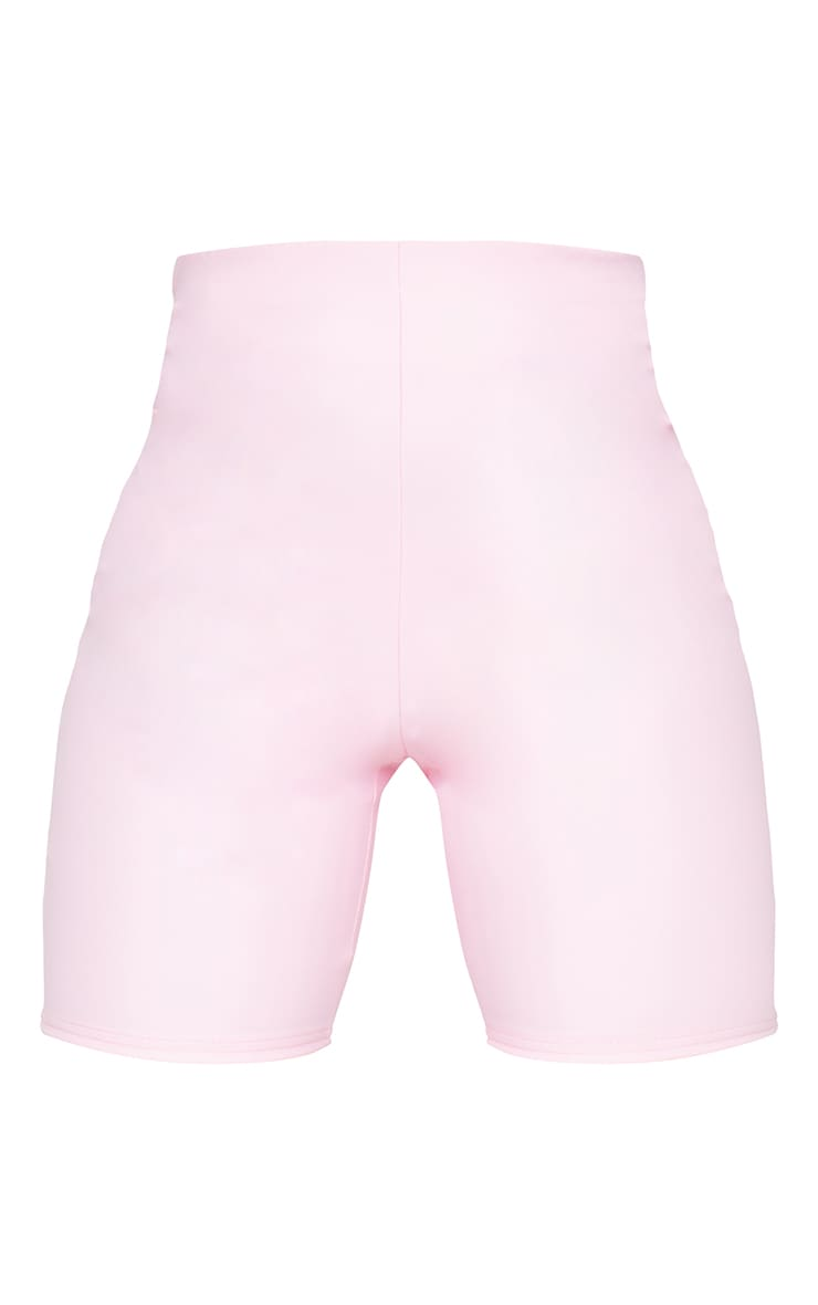 Baby Pink Faux Leather Cycle Shorts 6