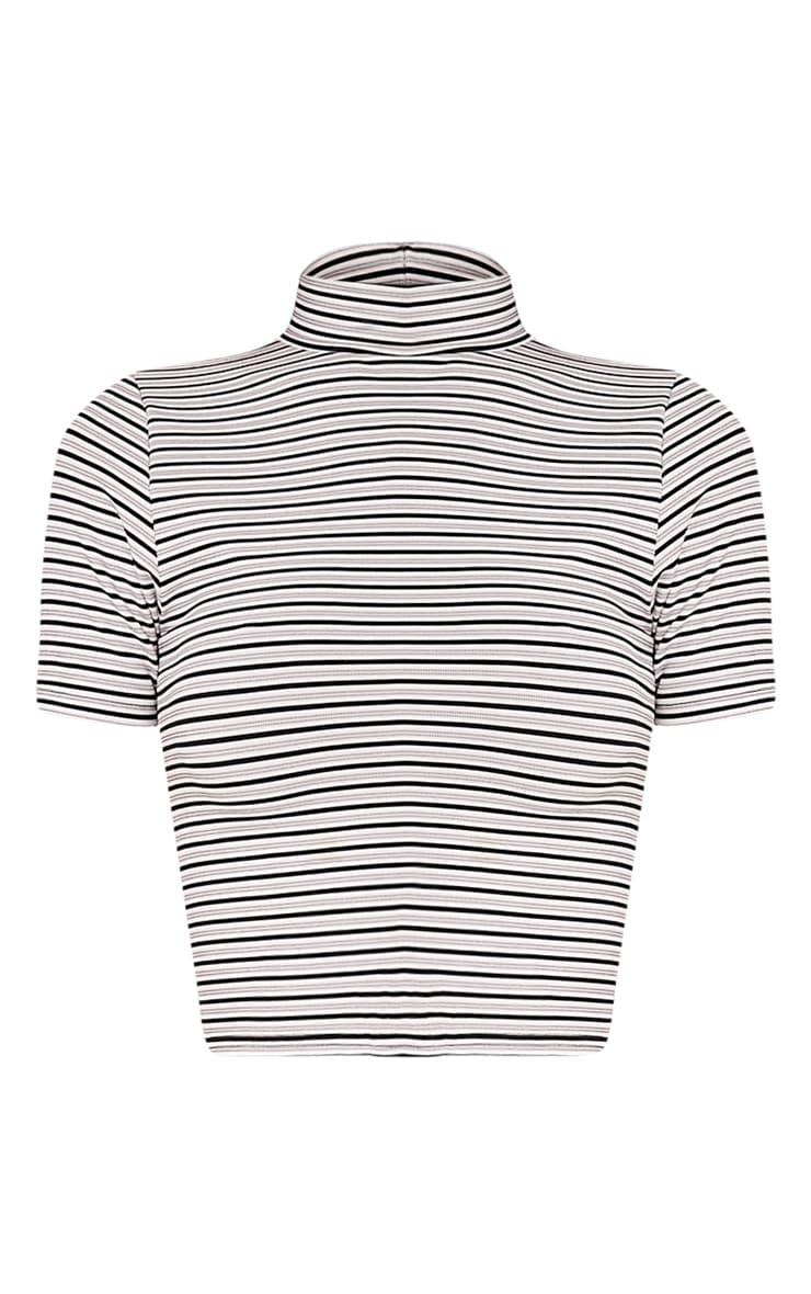 Leoni White Stripe Crop Top 3