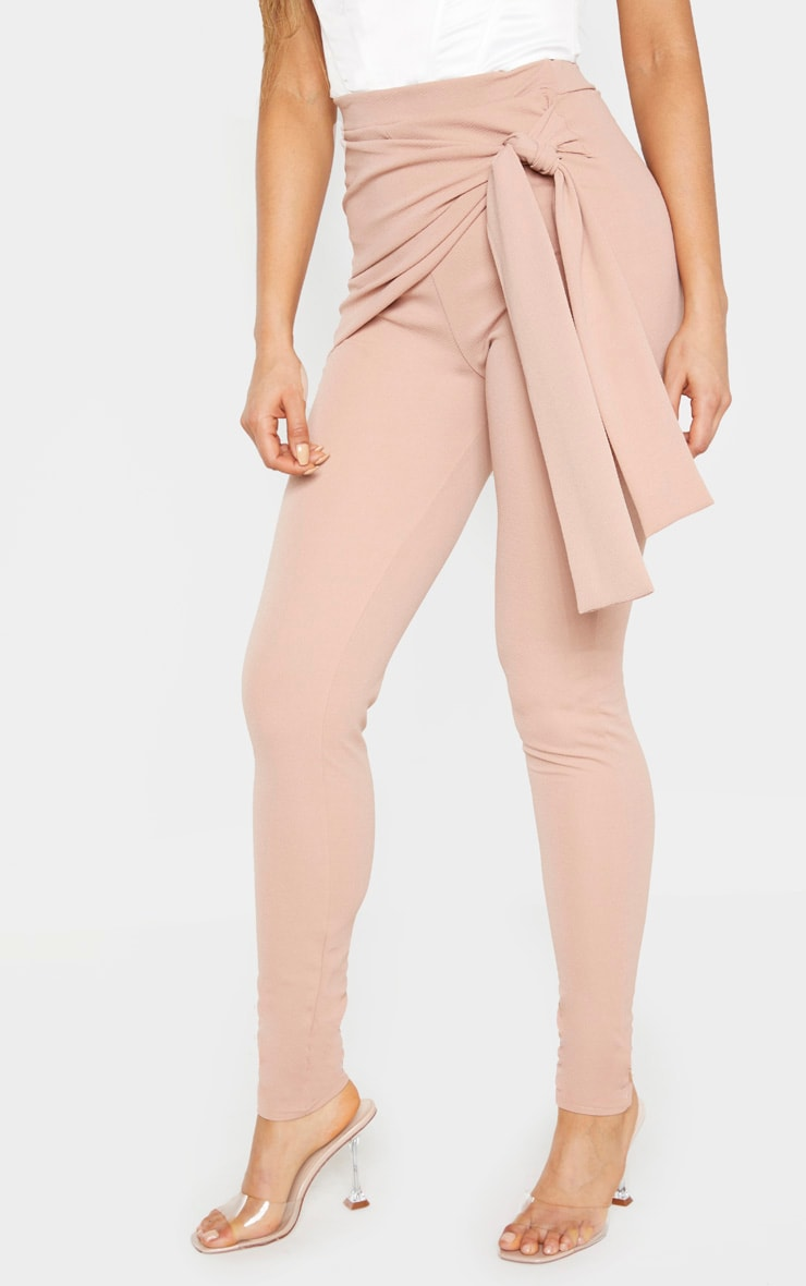 Tall Stone Tie Detail Crepe Pants 3