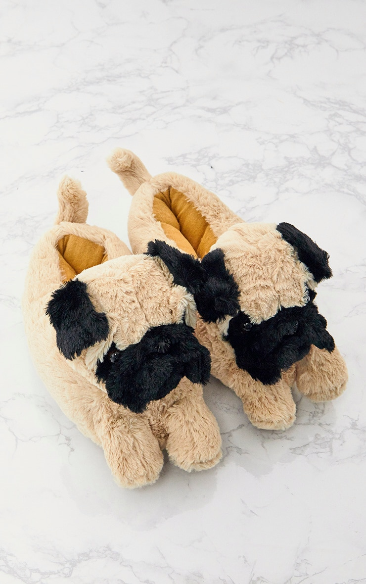 Brown Pug Slippers 5