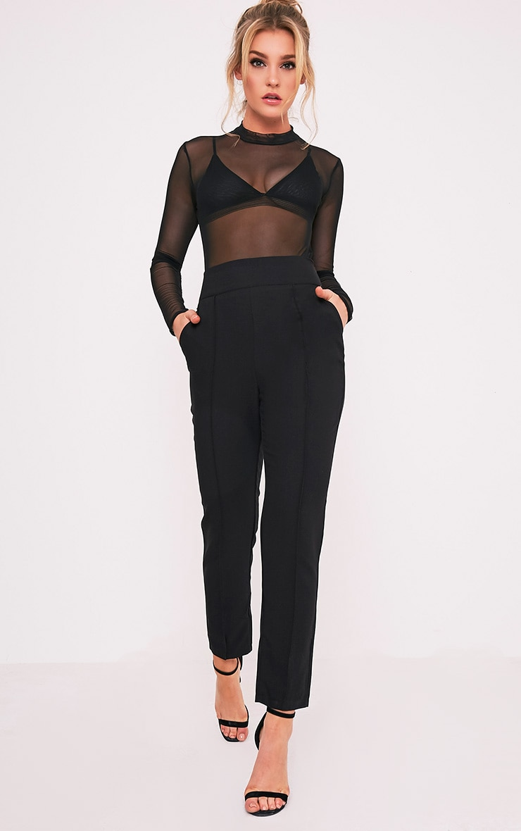 Wendy Black Front Seam Trousers 1
