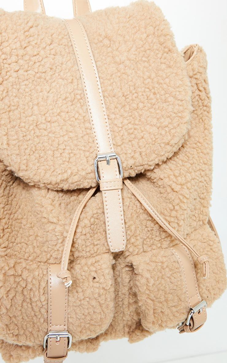 Tan Fur Backpack 2