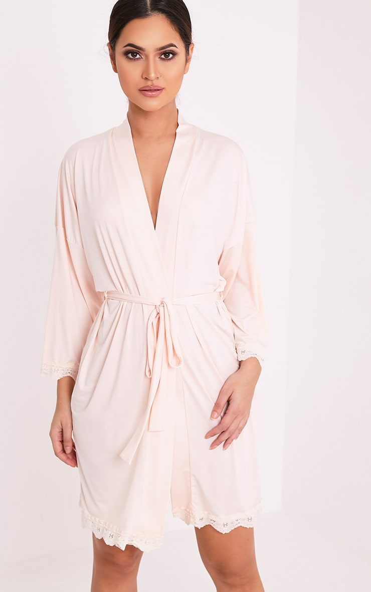 The Bride's Squad Nude Slinky Dressing Gown 4