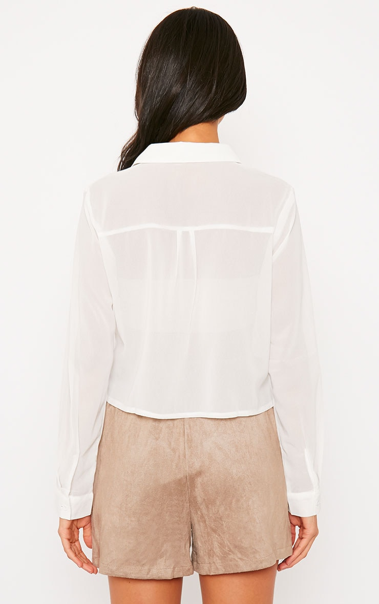 Libby White Cropped Shirt 2