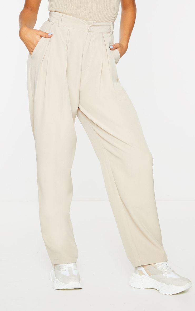 Stone Woven High Waisted Cigarette Pant 2