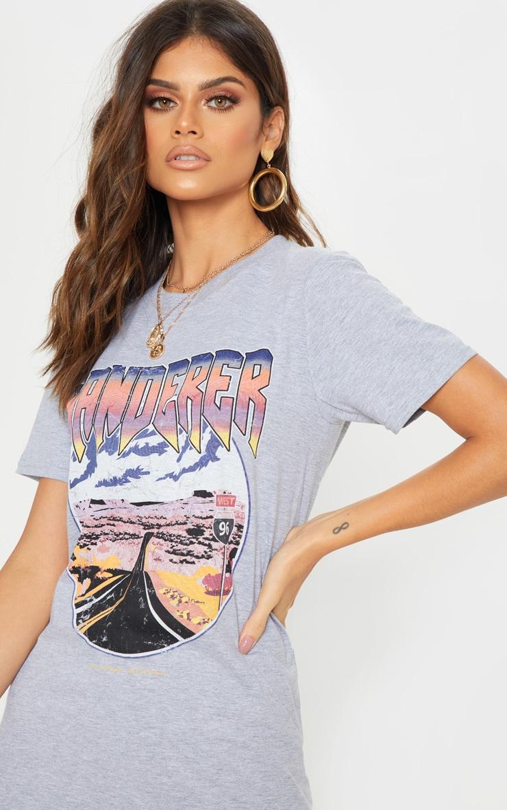 Grey Wanderer Oversized T Shirt 6