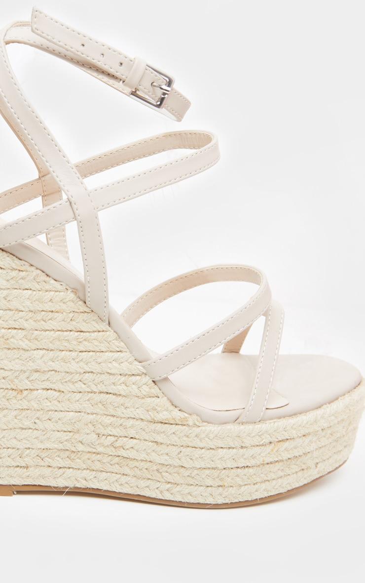 Sandales compensées nude à brides 3