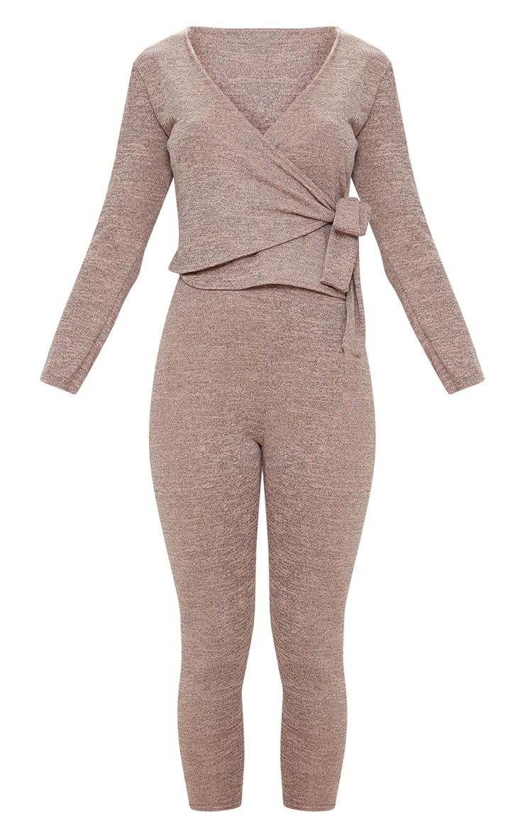 Pink Wrapover Knitted Co Ord Set 3