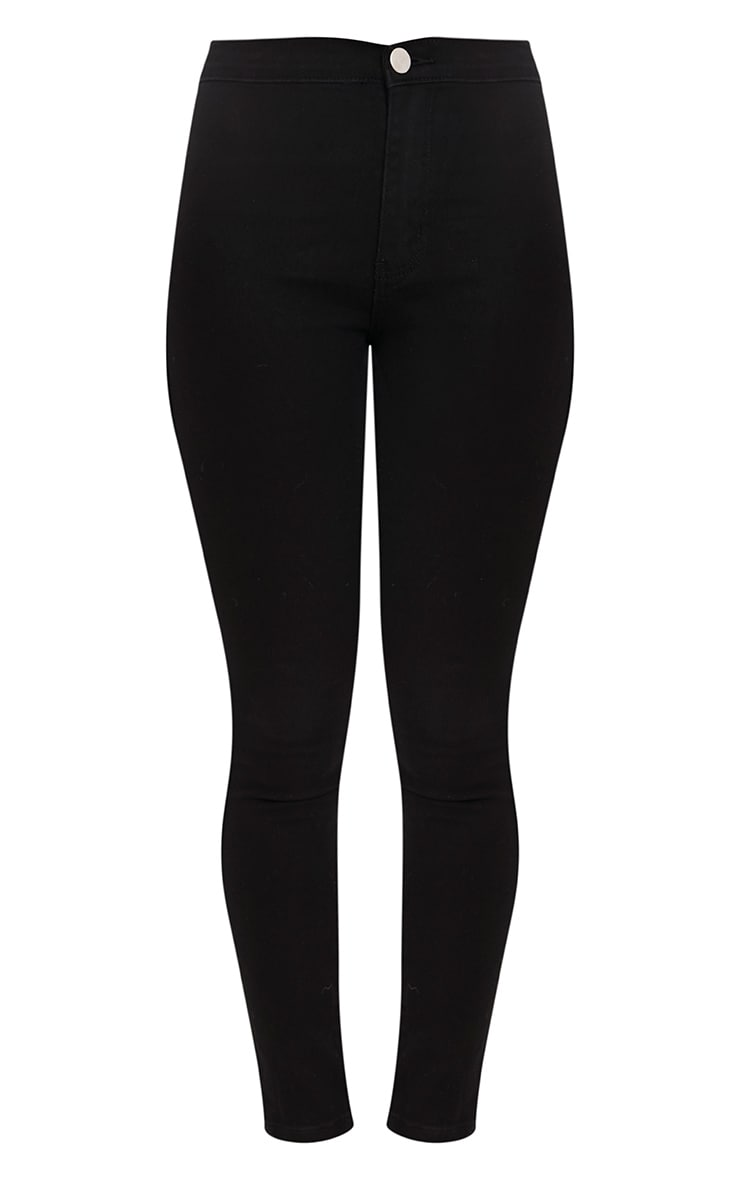 Black High Rise Skinny Jeans  3
