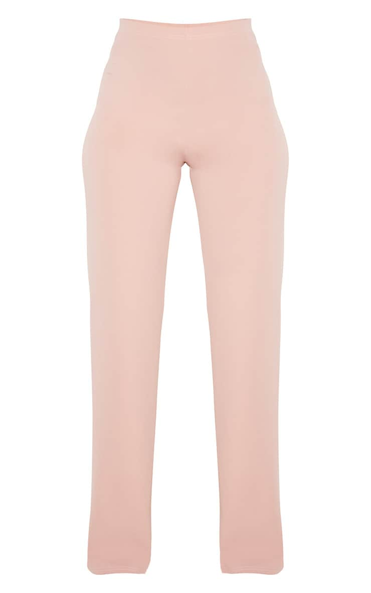 Dusty Pink Crepe High Waisted Wide Leg Trouser 3