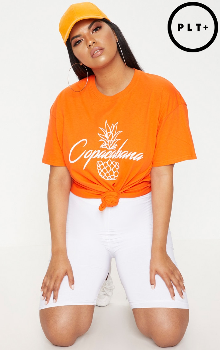 Plus Orange Copacabana T-Shirt 1