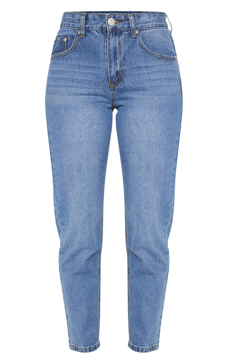 Low Rise Mom Mid Wash Jean 3