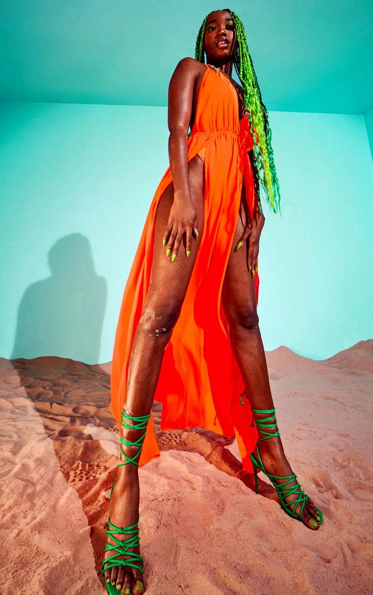Orange Ring Detail Maxi Dress 3