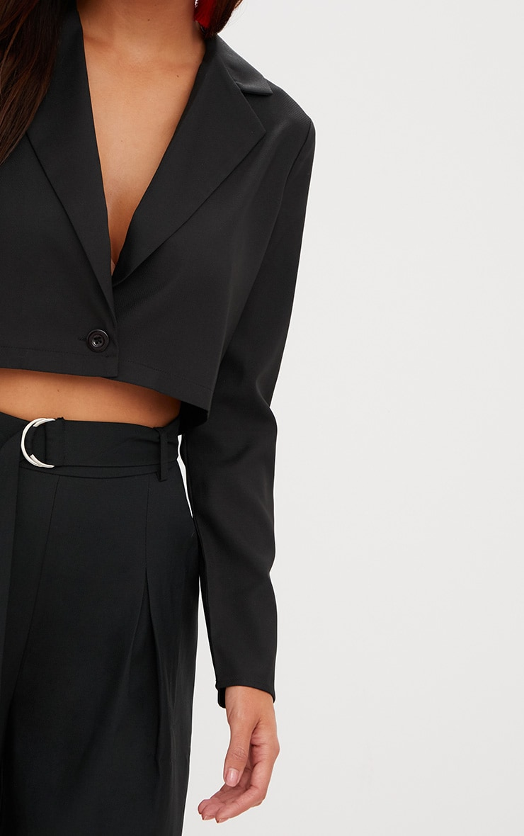 Black Cropped Blazer  5