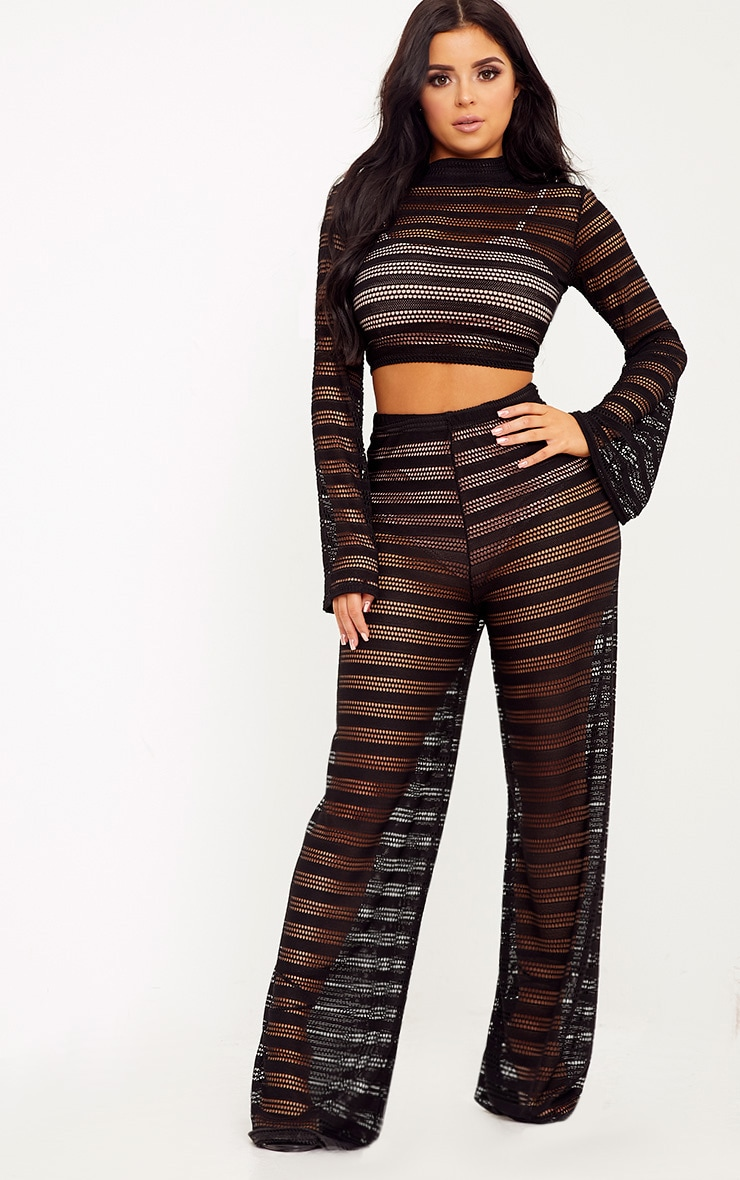 Shape Edyn Black Lace Crop Top 4
